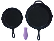 Load image into Gallery viewer, Silicone Hot Handle Holder, Potholders (Multi-Pack Purple) Cast Iron Skillets, Pans, Frying Pans & Griddles, Metal Aluminum Cookware Handles - Sleeve Grip, Handle Cover