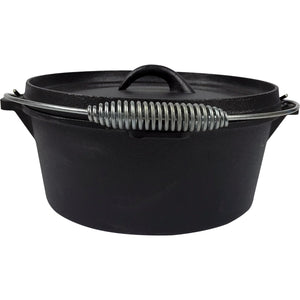 Pre-Seasoned Cast Iron Camp Dutch Oven, 4.1 qt, including Lid Lifter