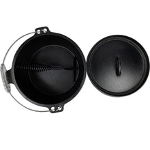 Load image into Gallery viewer, Pre-Seasoned Cast Iron Camp Dutch Oven with Legs - 4.1 qt (3.9 L), Including Lid Lifter