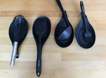 Load image into Gallery viewer, Silicone Spoon Rests (Set of 4) - Black