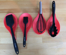 Load image into Gallery viewer, Silicone Spoon Rests (Set of 4) - Red