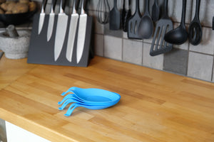Silicone Spoon Rests (Set of 4) - Turquoise