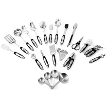 Load image into Gallery viewer, Utensils Set - 26-Piece Complete Stainless Steel Cooking Kitchen Tools Set, Cookware Set, Kitchen Gadgets - Utensilios de Cocinas