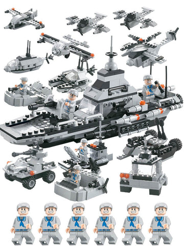 Armed United Fleet 6 In 1 Set Building Blocks Gift Toys For Kids