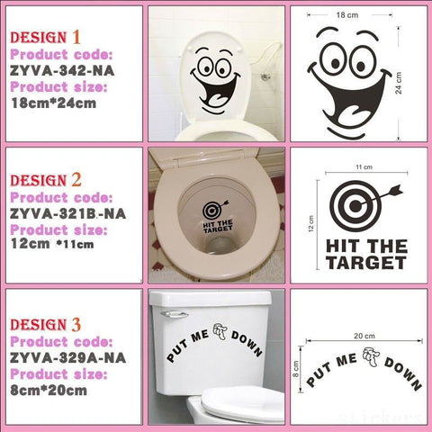 Wall Decor Sticker - Big Mouth Toilet Stickers