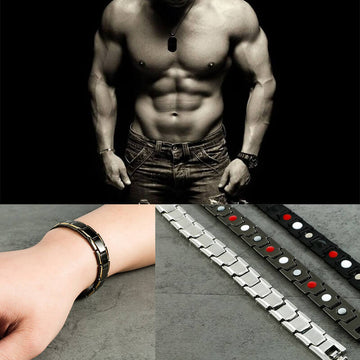 Magnetic, Titanium, Germanium Bracelets for Health and Fashion