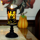 Halloween Lamp with Spin Technology Led Lighting, Flameless Candle in Witch
