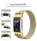 Colorful Milanese Stainless Steel Fitbit Charge 2 Watch Band