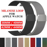 Milanese Stainless Steel Apple Watch Bands Basic Colors