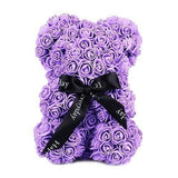 Cute 25cm Teddy Bear Rose Flower Artificial Gifts for Women Valentine's Day