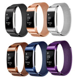 Milanese Stainless Steel Fitbit Charge 2 Watch Bands Basic Colors