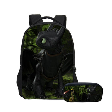 2pcs/set Cartoon Backpack & Pencil Bag For Childents