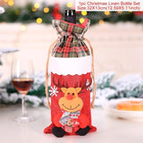 Santa Claus Wine Bottle Cover Merry Christmas