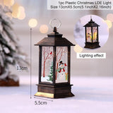 Santa Claus Snowman Light Merry Christmas