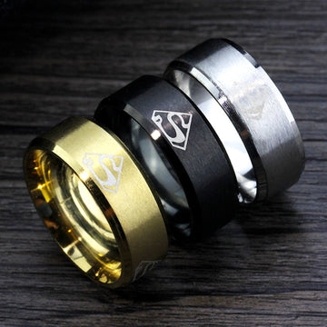 Superman Ring Stainless Steel Rings
