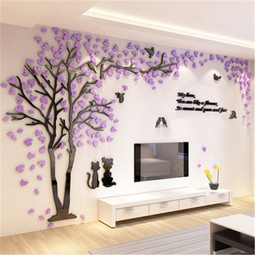 Creative Couple Tree 3D Wall Decor Sticker