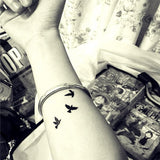 Lovers Plane Waterproof Temporary Tattoo
