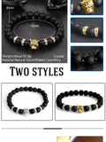 Natural Stone Leopard, Panther, Tiger Beaded Bracelets