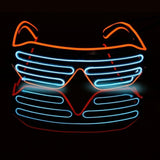 Sound Activated Light Up LED Glasses, Glow In The Dark Flashing Glasses