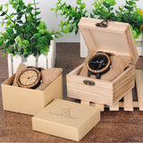 Wood Week Display Date Quartz Watches