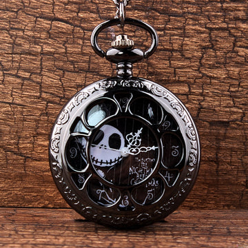 The Nightmare Before Christmas Hollow Quartz Pocket Watch