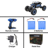 2.4GHz Double Motors Bigfoot Remote Control RC Climbing Car Gift For Kids