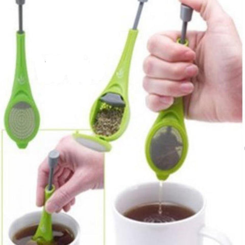 Tea Infuser Built-in plunger Tea & Coffee Strainer