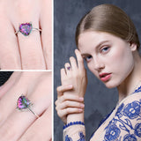 Natural Rainbow Fire Mystic Topaz Ring For Women