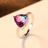 Nature Rainbow Fire Mystic Topaz Wedding Rings