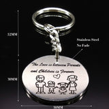 Family Silver Color Keychain Mother's Day Gift