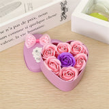 Heart-Shaped Rose Soap Flower with Plush Women Valentine's Gift