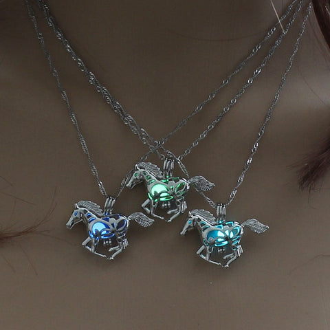 Running Horse Pendant Necklace | Glowing in the Dark Necklaces