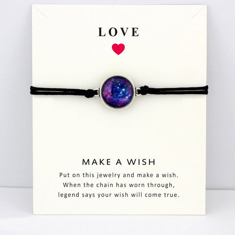 Space Galaxy Universe Starry Nebula Card Bracelets