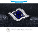 Blue Sapphire Statement Ring Gift for Women