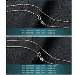 Classic Basic Silver Chains Lobster Clasp Adjustable Necklaces