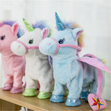Electric Walking Unicorn Plush Toy Stuffed Animal Toy Gift for Kids