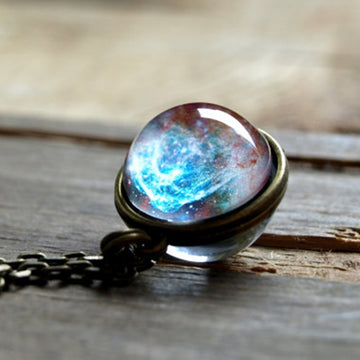UNIVERSE IN A NECKLACE - Glass Ball Pendant Necklace