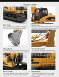 Remote Control RC Excavator Construction Toy Gifts for Kids