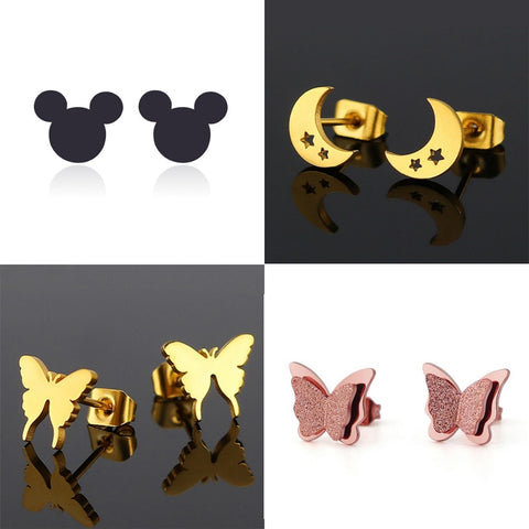 Cute Stainless Steel Stud Earrings