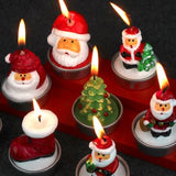 Christmas Candles Santa House Snowflake Shape Home Decorations