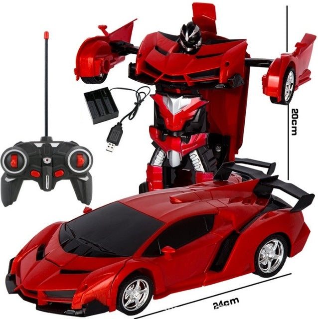 2 In 1 Transformer Remote Control Car Toy Gift For Kids