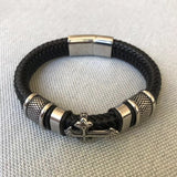 Classical Multi-layer Handmade Leather ChainMan Bracelet