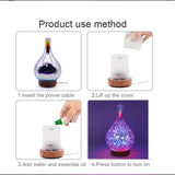 Aroma Diffuser with Fireworks LED Light