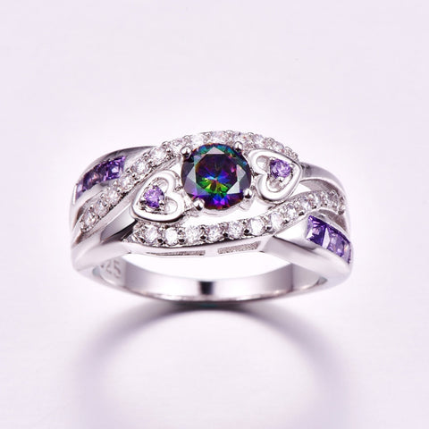 CZ Silver Color Ring | Jewelry For Women