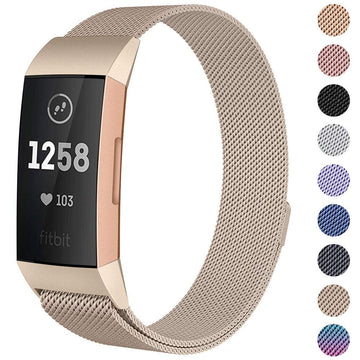 Milanese Stainless Steel Fitbit Charge 3 Watch Band