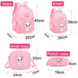 Sweet Cute Cat Cartoon School Bags For Kids