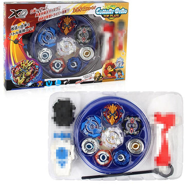 4PCS Beyblade Burst 4D Set With Launcher Arena Metal Fight Battle