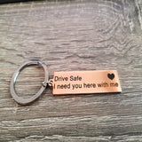 Personalized Calendar Keychain, Hand Carved Calendar Highlighted with Heart Date Keyring