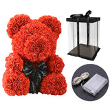 Teddy Bear of Roses with LED Gift Box Gifts for Women Valentines Day