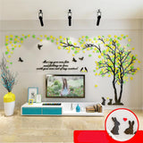 3D Rabbit Couple Acrylic Wall Sticker Decals for Living Room Sofa TV